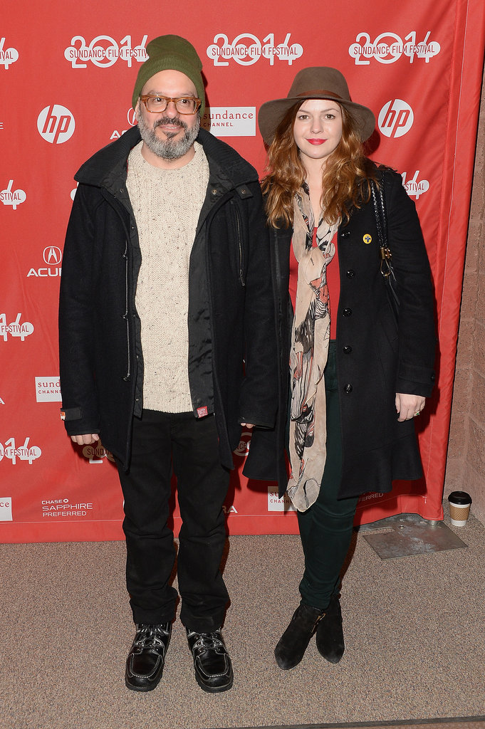 Amber Tamblyn and her husband, David Cross, posed on Tuesday.