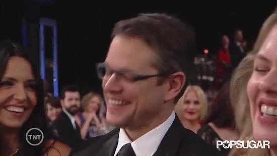 Matt Damon Can't Handle Michael Douglas's Dirty SAG Acceptance Speech