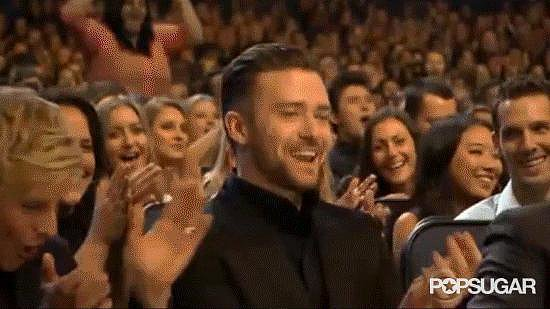 Ellen DeGeneres Gets Up to Accept JT's People's Choice Win