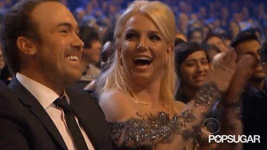 Britney Spears REALLY Enjoys the People's Choice Awards