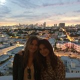 Behati Prinsloo and Lily Aldridge had a moment together in Miami. Source: Instagram user lilyalridge