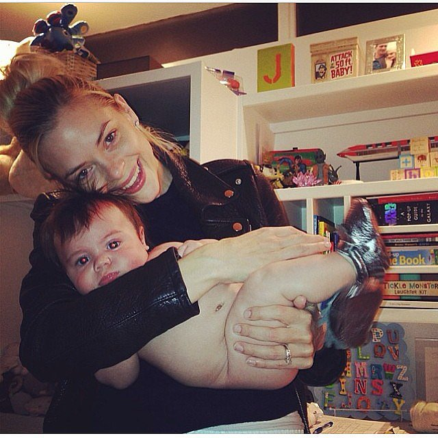 Jaime King shared this adorable snap of her son, James, before his bath time. Source: Instagram user jaime_king