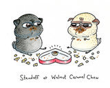 Standoff at walnut caramel chew ($4)