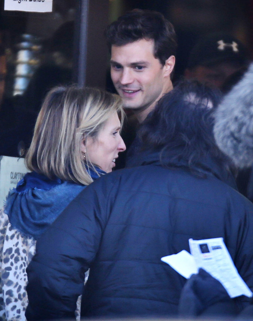 Dornan lit up with a smile that would make Anastasia flush scarlet.