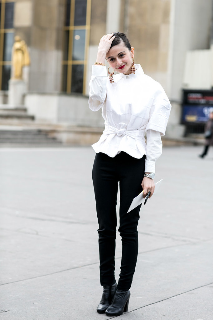 A modern update on the white button-down.