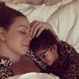 Mariah Carey soaked up some time with little Monroe on Martin Luther King, Jr. Day. Source: Instagram user mariahcarey