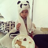 Sweet Arabella Kushner was warm and toasty for her indoor s'mores session. Source: Instagram user ivankatrump