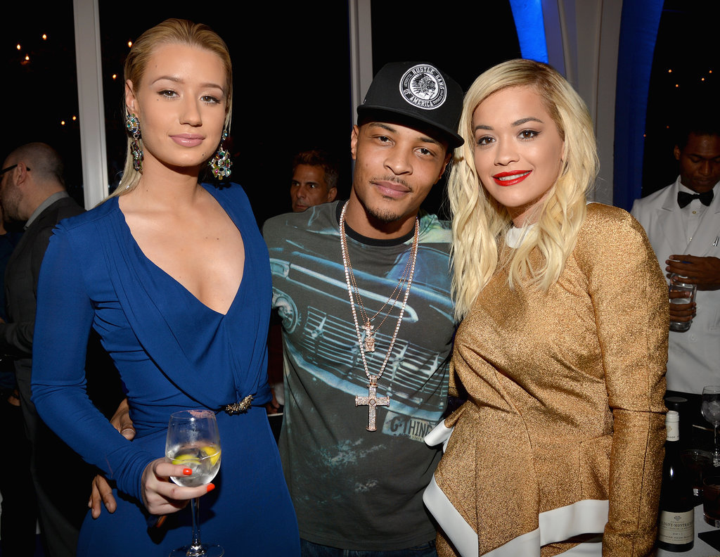 Iggy Azalea, T.I., and Rita Ora at the Friends 'n' Family Grammy Dinner