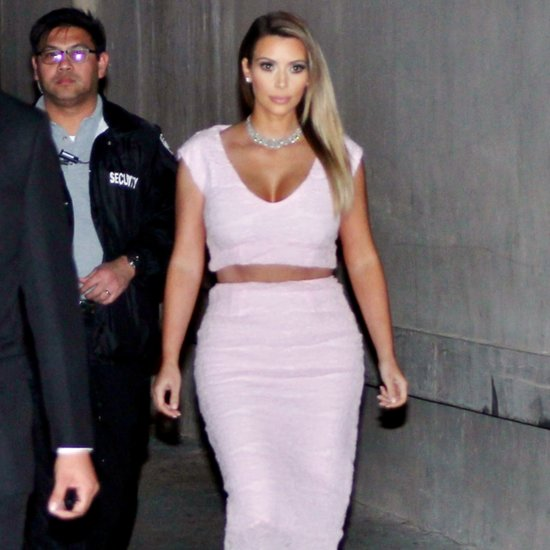 Kim Kardashian In Pink Dior Cropt Top And Skirt; DIY