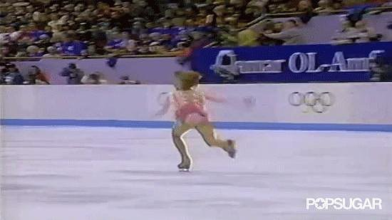 Oksana double-footed a triple flip and made a few technical mistakes in an otherwise flawless routine.