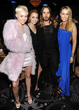 The Cyrus family — Miley, Brandi, and Tish — buddied up with Jared Leto.
