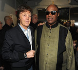 Paul McCartney and Stevie Wonder at the 2014 Grammy Awards.