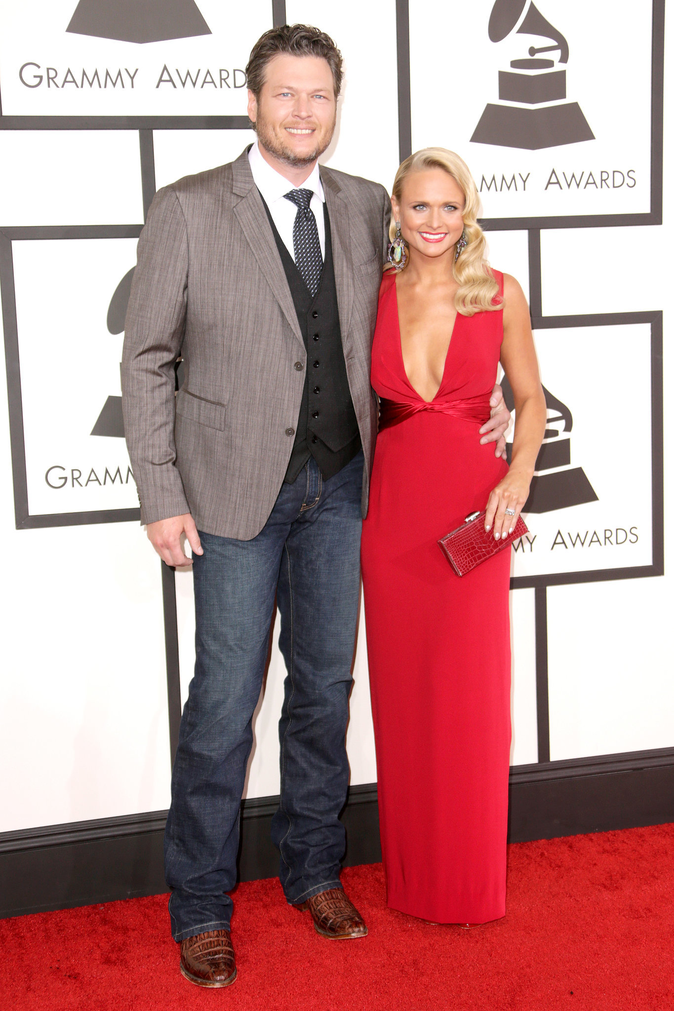 Blake Shelton and Miranda Lambert m