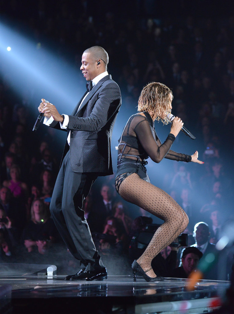 Beyoncé and Jay Z got down during their performance.
