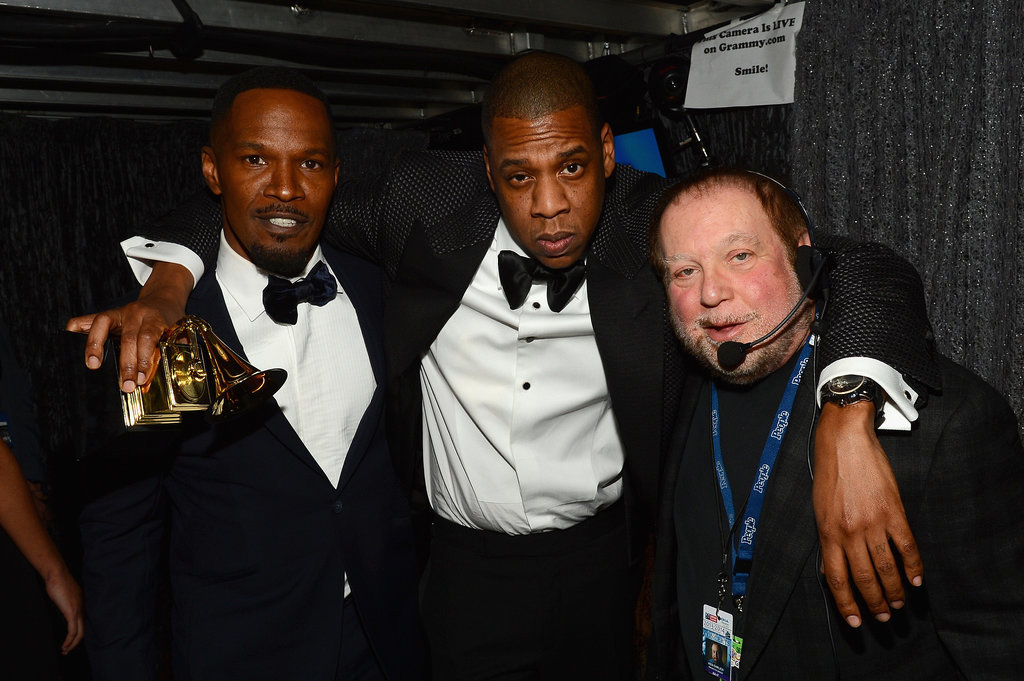 Jaime Foxx and Jay Z hung backstage with producer Ken Ehrlich.
