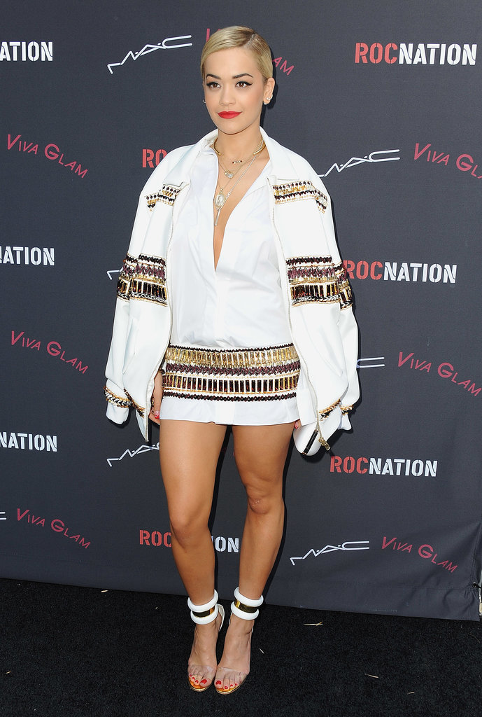 Rita Ora at Roc Nation's Pre-Grammys Brunch