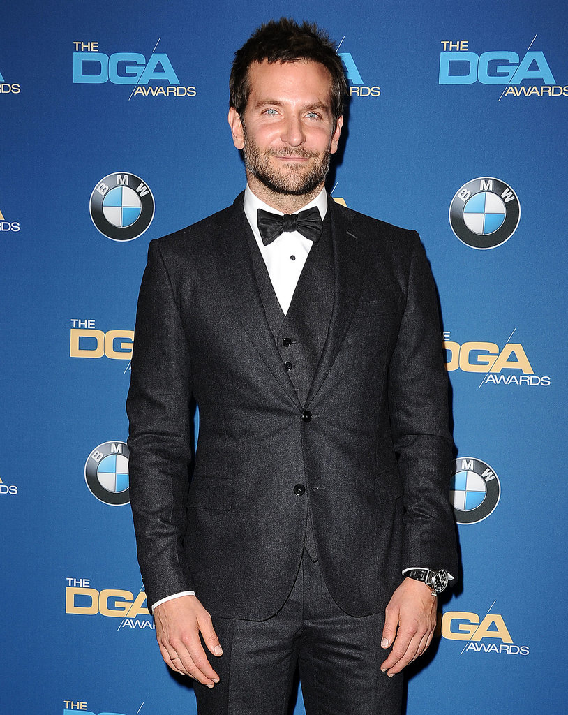 Bradley Cooper sported a dapper look for the event.