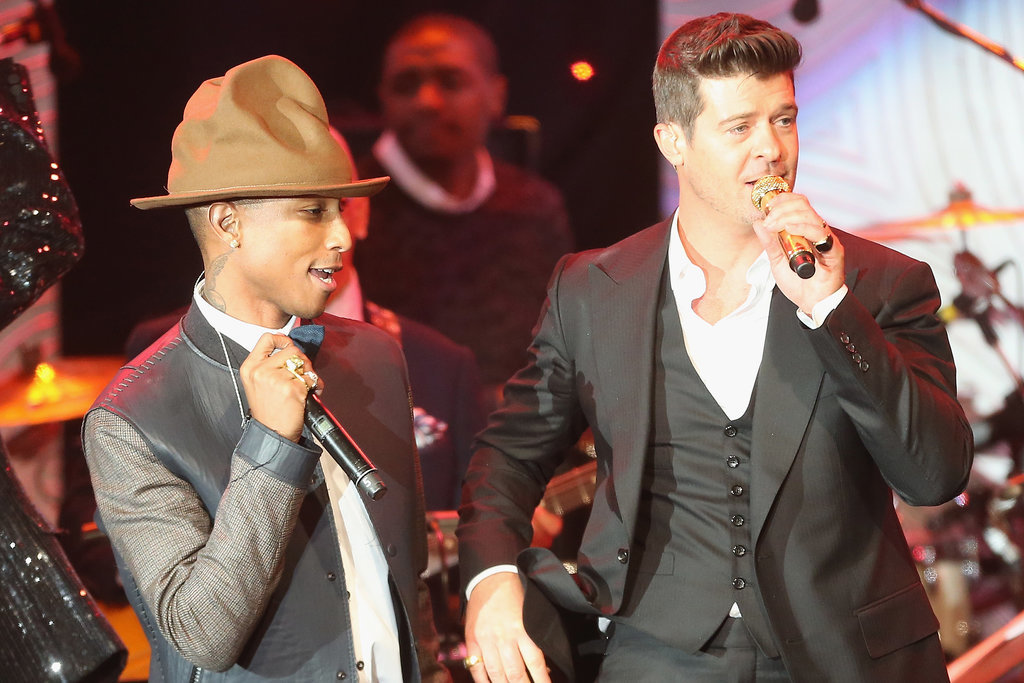 Pharrell Williams and Robin Thicke rocked the stage together.