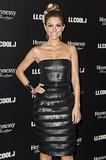 Maria Menounos was all smiles at the pre-Grammys event hosted by LL Cool J.