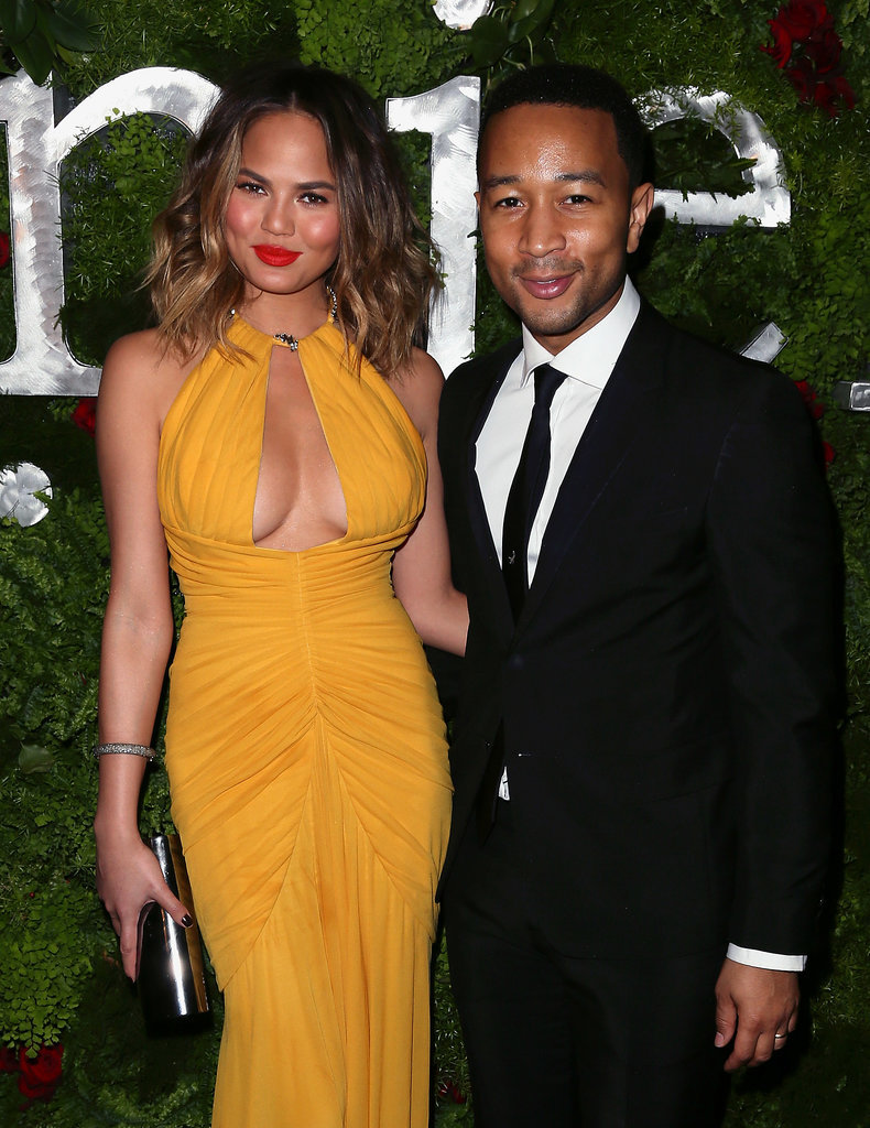 John Legend and Chrissy Teigen attended a pre-Grammys party hosted by Nielsen.