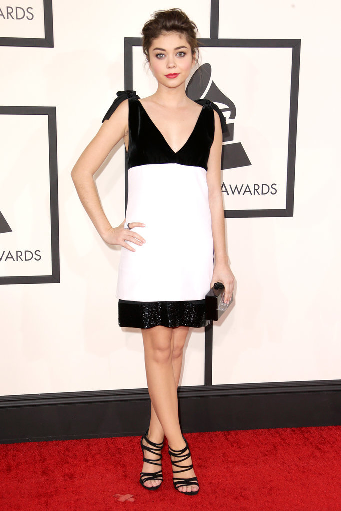 Sarah Hyland at the 2014 Grammy Awards.