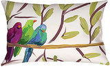 For art that you don't have to hang, add this colorful bird pillow ($23) to your bedding.