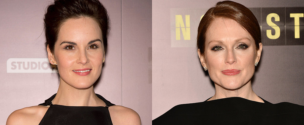 It's Non-Stop Nude Lips For Michelle Dockery and Julianne Moore