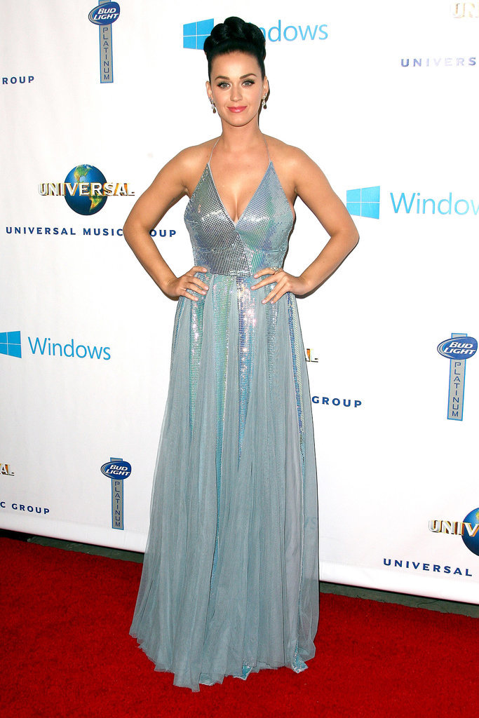 Katy Perry in Blue Dress at Grammys Afterparty