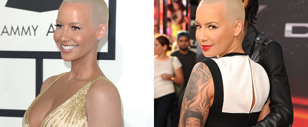 Wait! Where Did Amber Rose's Tattoo Sleeves Go?