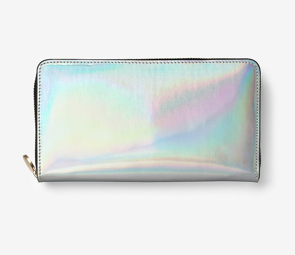 Kate Spade Saturday Holographic Silver Wallet