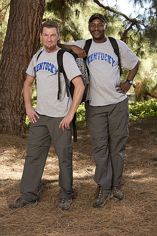 "Names: William ""Bopper"" Minton and Mark Jackson Connection: Friends Ages: 43 and 47 Hometown: Clay County, KY Current occupations: Unemployed Previous season: Fifth place in season 20"