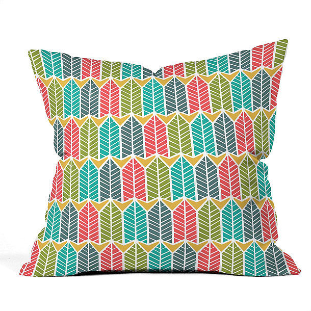 For a pop of color, use this brightly patterned pillow ($23, originally $35).