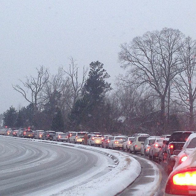 Southerners were stuck in some serious traffic jams.