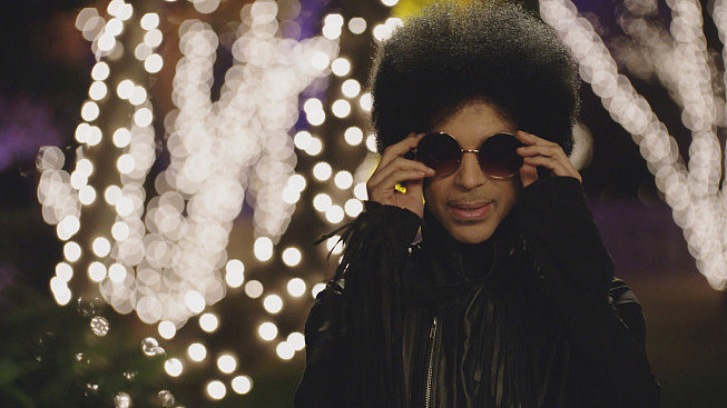 Prince needs shades, even at night.