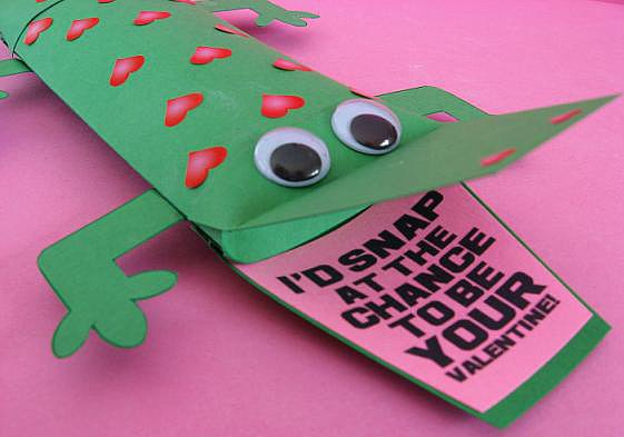 Crocodile Valentine's Printable