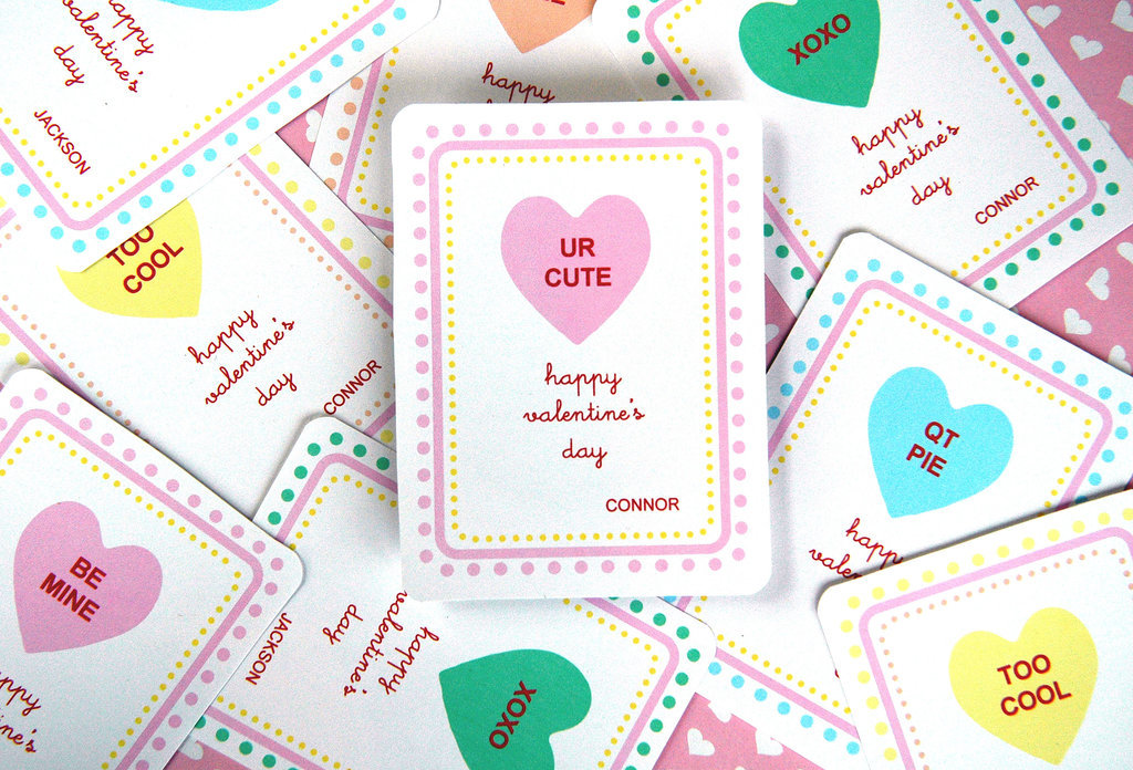 Candy Hearts Valentine's Printable