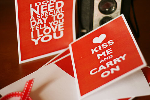 Kiss Me and Carry On Valentine's Printable