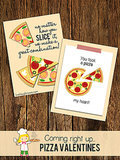 Pizza My Heart Valentine's Printables