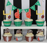 Printable Football Cupcake Wraps and Toppers