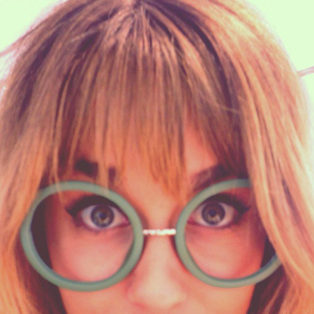 Lauren rocked unconventional spectacles. Source: Instagram user laurenconrad