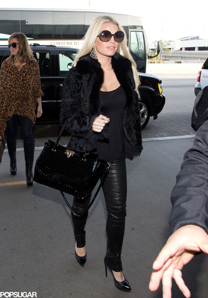 Jessica Simpson Turns JFK Into Her Own Runway