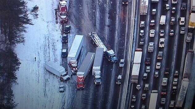In Atlanta, the roads were not safe for big rigs.