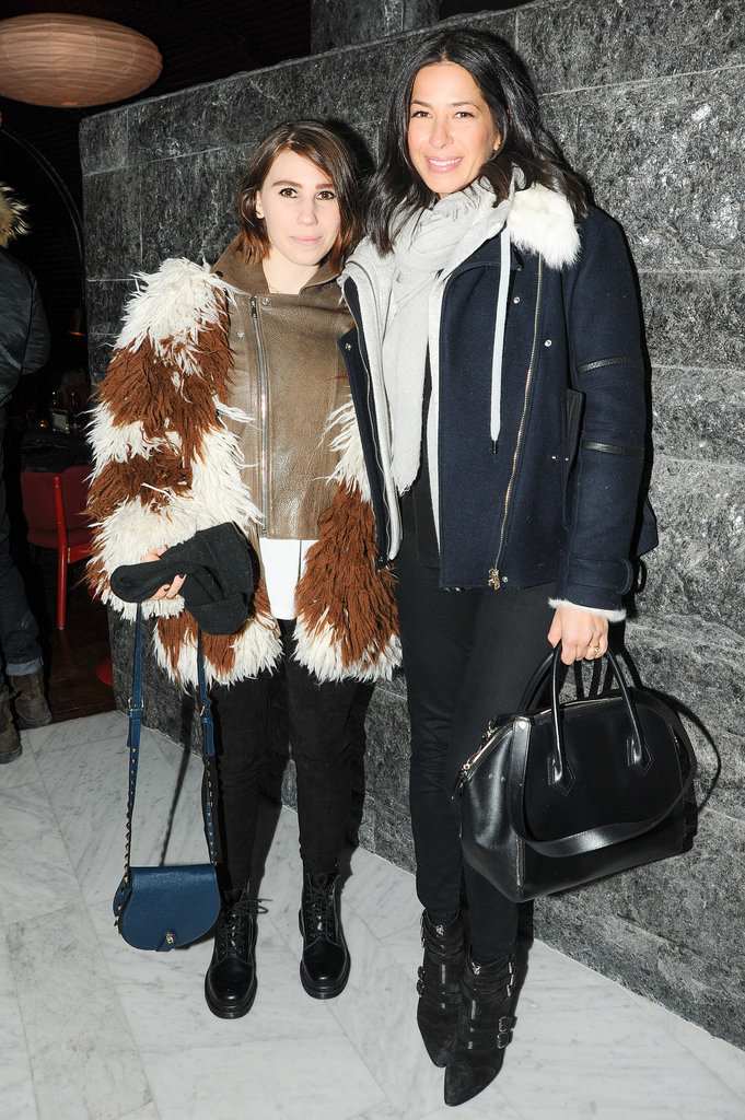 Zosia Mamet and Rebecca Minkoff at Clicquot in the Snow.