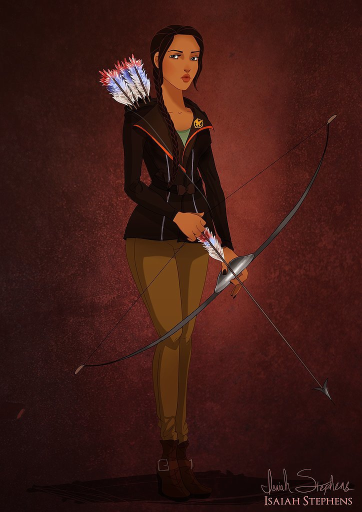 Pocahontas as Katniss