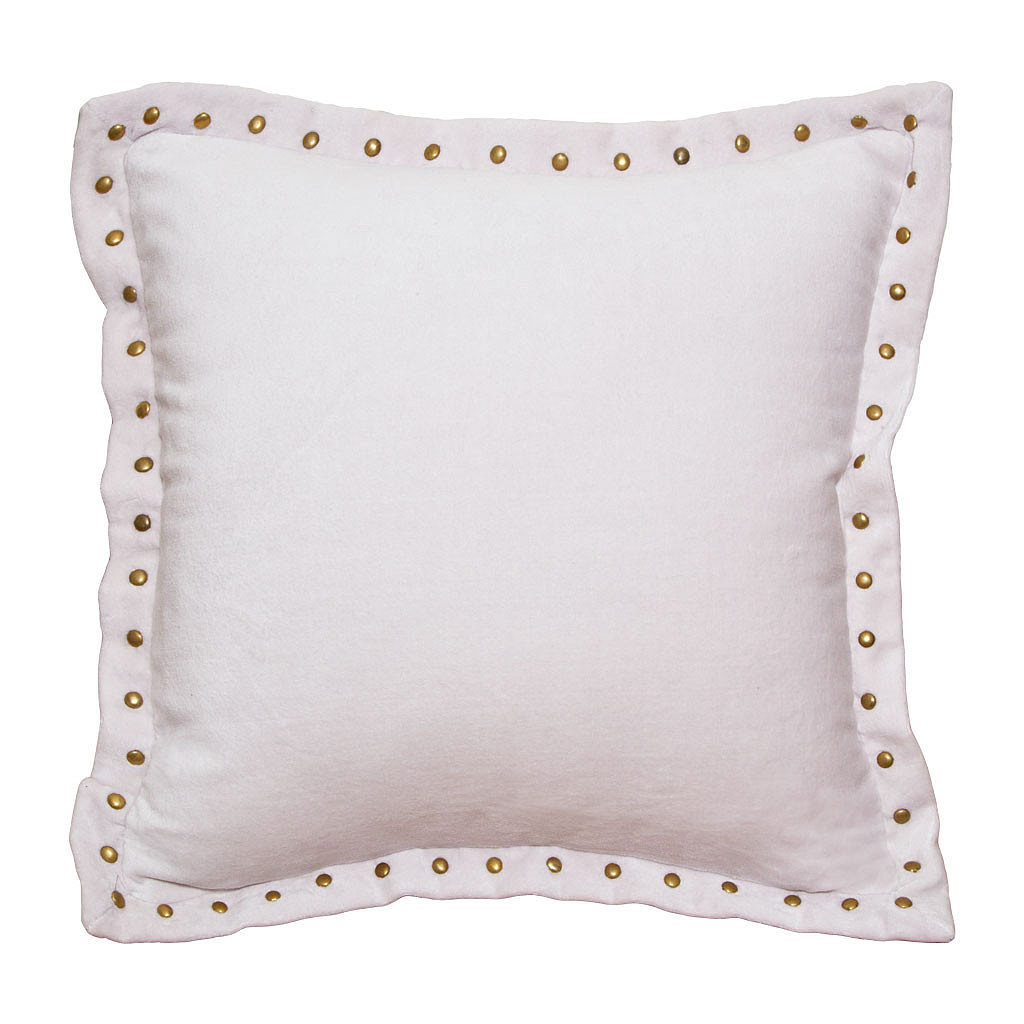 Use this studded pillow ($39-$44) to incorporate a soft pink into your space.