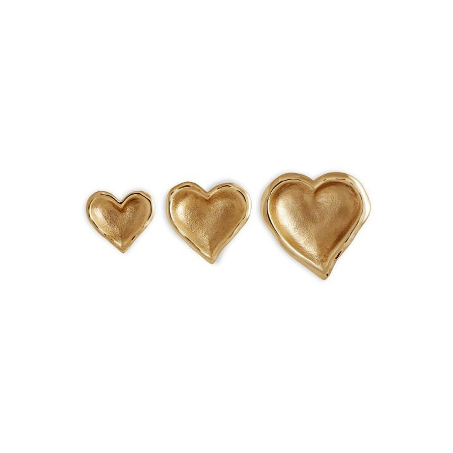 These gold heart bowls ($240) make a great gift or lovely addition to your tablescape.