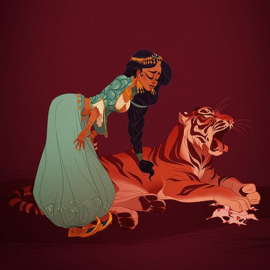 Disney princes and princesses kissing