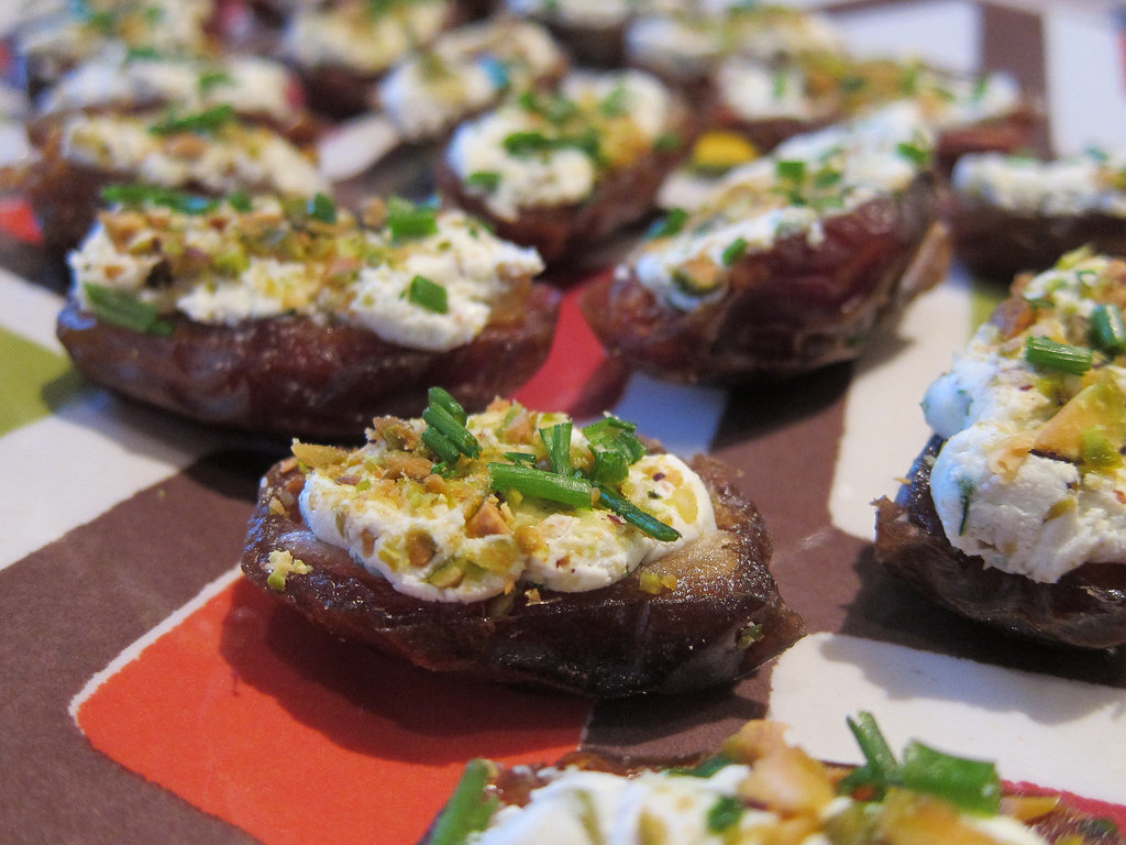 Goat-Cheese- and Pistachio-Stuffed Dates