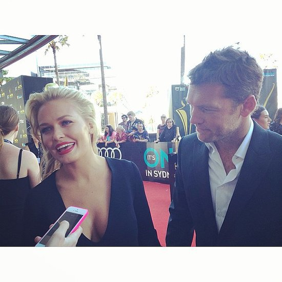 POPSUGAR Australia Instagram: Lara Bingle & Sam Worthington