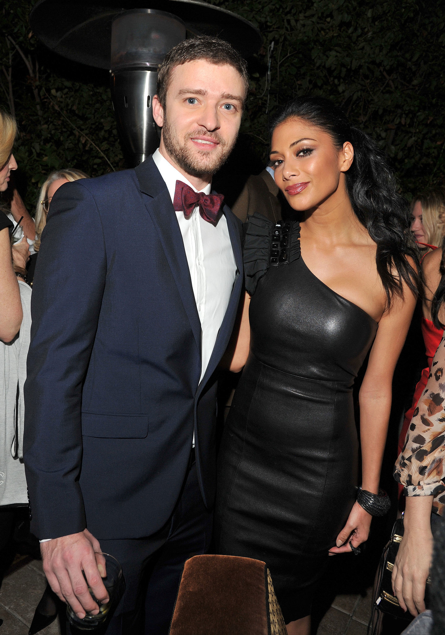 Justin, looking dapper in a bow tie, posed with Nicole Scherzinger at GQ's Men of the Year party in 2011.